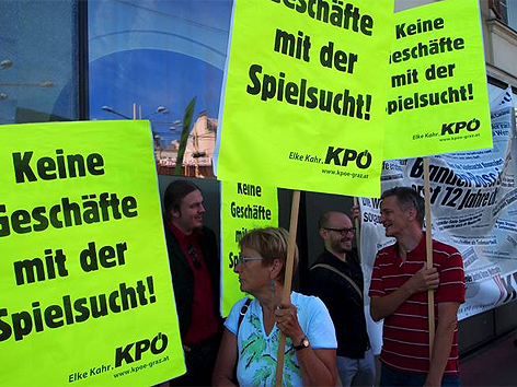 KPÖ-Demo in Graz
